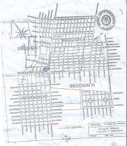 El mapa proporcionado a las vecinas, señalando los terrenos comprometidos con lapicera.